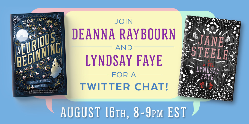 Raybourn and Faye Twitter Chat Social Share